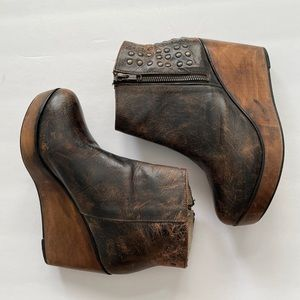 Bed Stu 9 Ghent Distressed Ankle Boots Booties